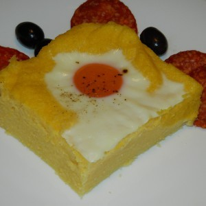 Палента со јајце на око