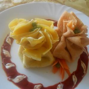 Шарени бовчи од солени пченкарни палачинки