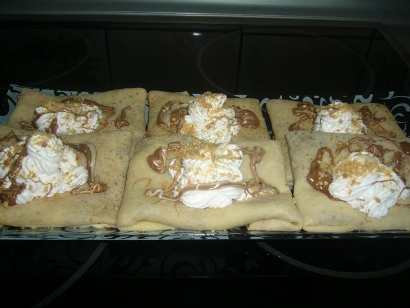 Палачинки со фил и мелени бисквити