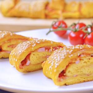 Видео рецепт: Пица ролат со зеленчук