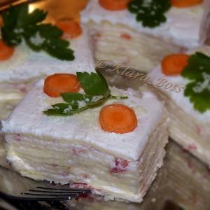 Солена розен торта