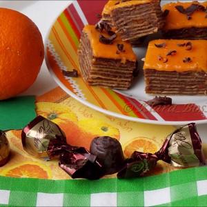 Чоко-оранж розен торта