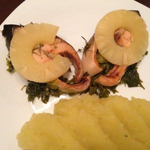 Лосос со ананас (Посен вкусен ручек)