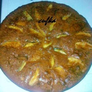 Превртена торта со јаболки