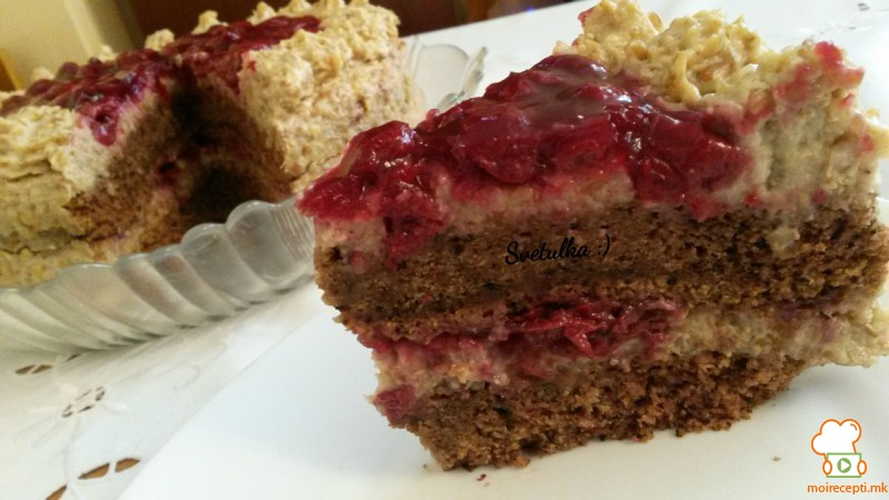 Житна крем торта (посна,без масло)