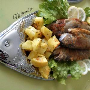 Похована пастрмка со прилог од компир
