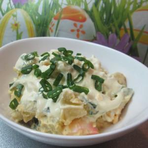 Крем салата со компири и јајца