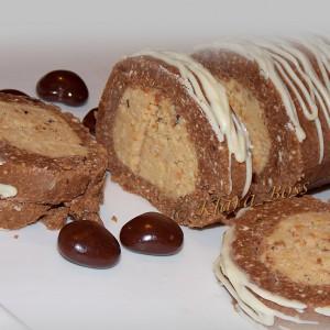 Сладок непечен ролат со 2 врсти чоколада