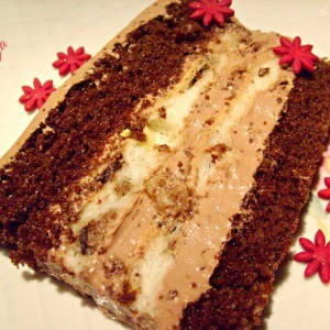 Кремаста црно-бела торта со газиран сок