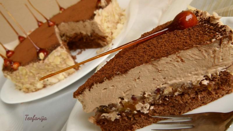 Карамел-мус торта