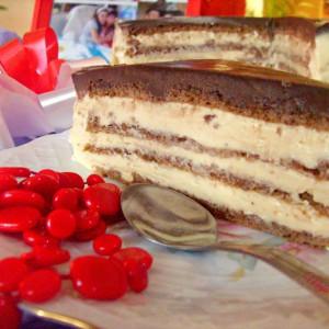 Торта со карамели и лешник