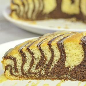 Видео рецепт: Зебра торта