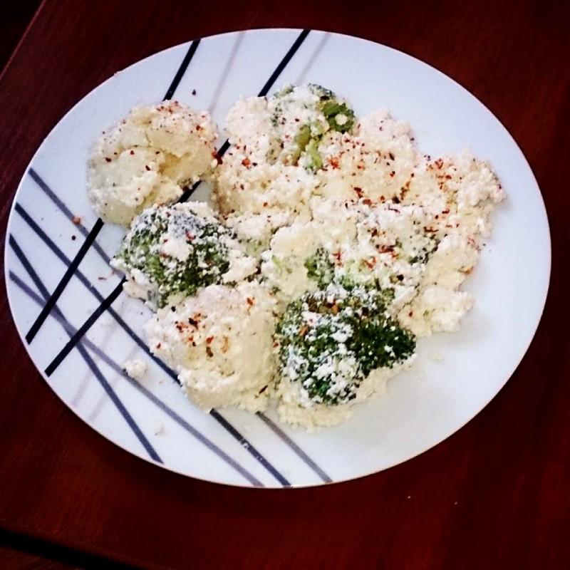 Крем салата со брокула и карфиол