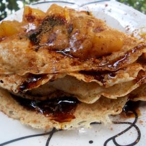 Палачинки со мед и праски