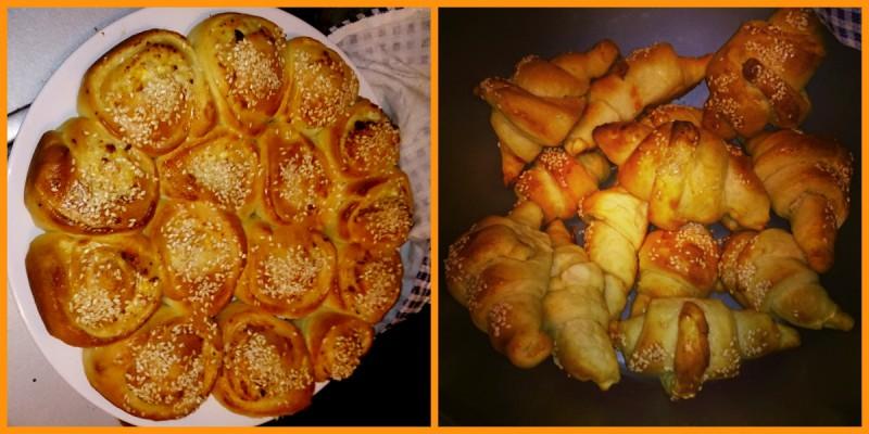 Погача и кифлички со зденка и маслинки