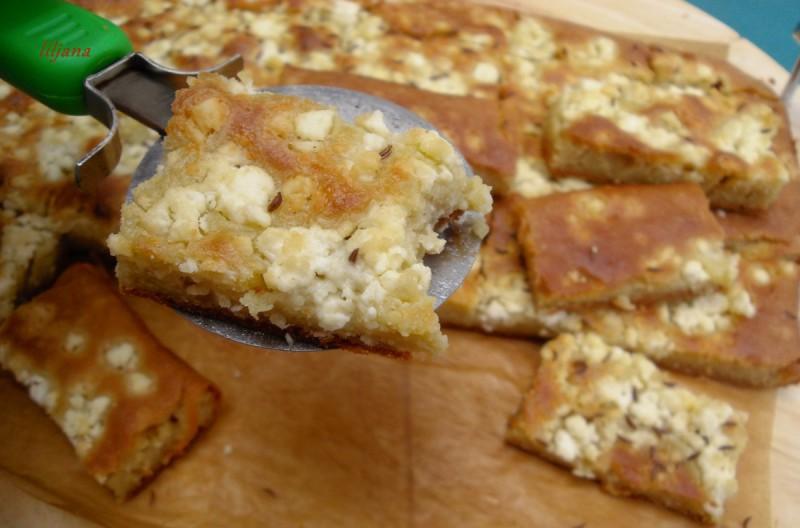 Тенко содено лепче со сирење и ким