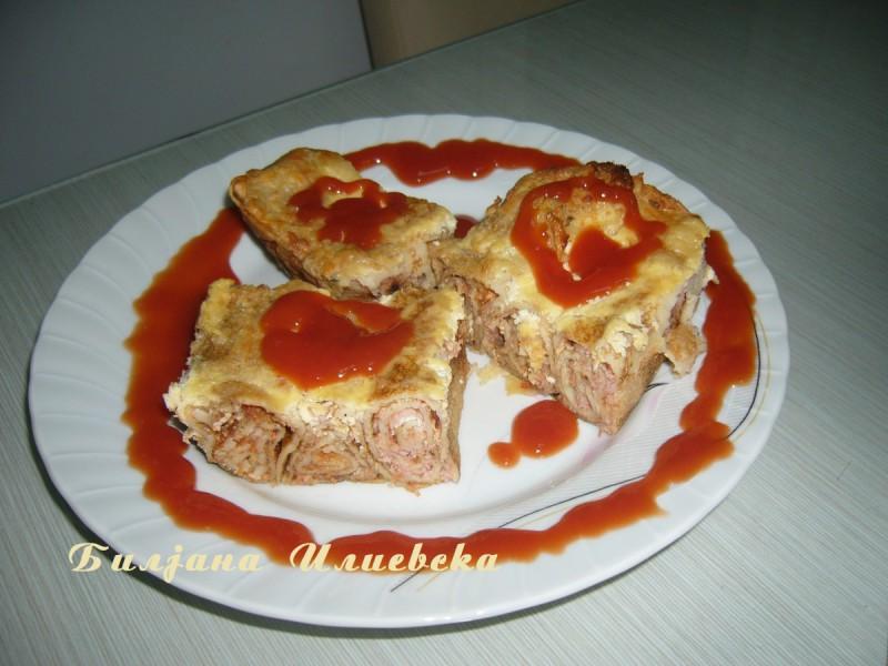 Потпечени палачинки со фил