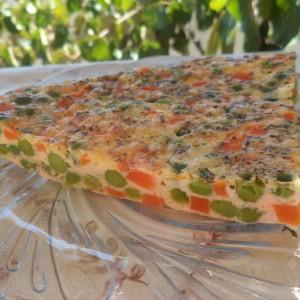 Зеленчукова пица - омлет