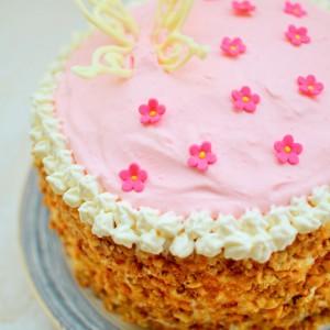 Торта со кокос и мармалад