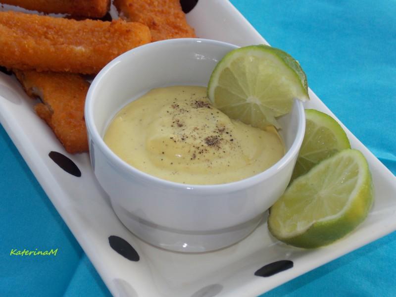 Брз сос од јајце, сенф и ѓумбир