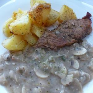 Неделен ручек (со свинско месо и печурки)