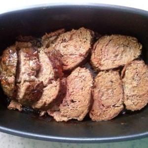 Ролат од мелено месо со сланина и моцарела