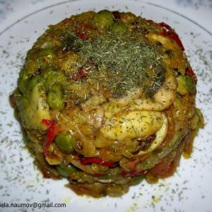Интегрален ориз со печурки, авокадо и куркума