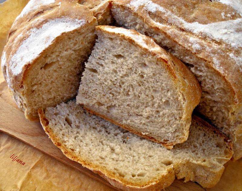 Домашен р,жан леб со мед