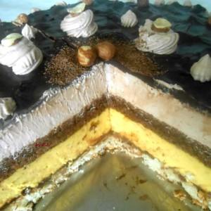 Нугат нутела торта