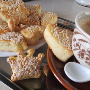 Тврди колачи - Сусамки (со Делимано калапчиња)