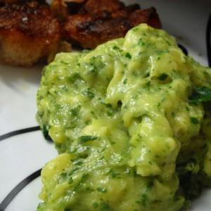 Пире од компир и спанаќ (посно)