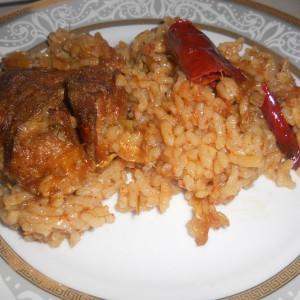 Капама со ориз и праз