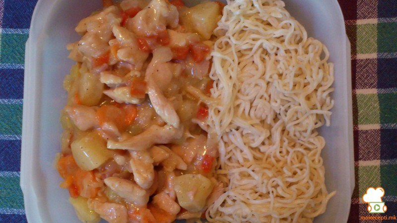 Слатко кисело пилешко на кинески начин