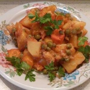 Посна тава со зеленчук