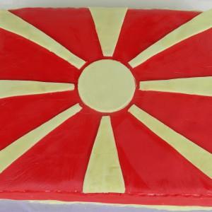 Торта со Македонското знаме - посна лешник торта