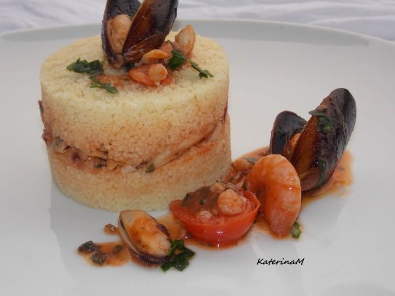 Кус кус со морски плодови