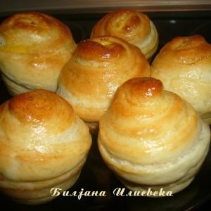 Мафини од тесто за кифлина