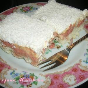 Рафаело коцки со слатко од јагоди