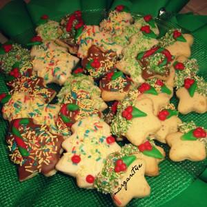 Новогодишни бисквитни колачиња