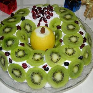 Посен празничен колач - икебана