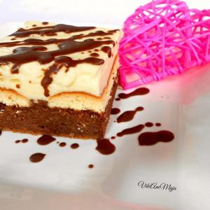 Крем торта со домашни пишкоти