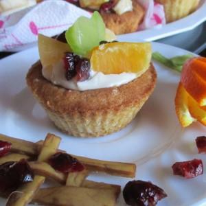 Мини чизкејк со овошје