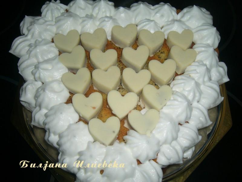 Бело срце со колачиња