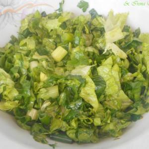 Најзелена салата (спанаќ, магдонос, штавељ, марула)