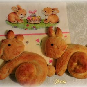 Велигденско тесто - зајче (декорација)