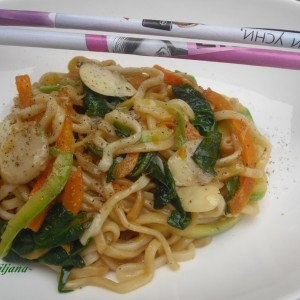 Шпагети на кинески начин