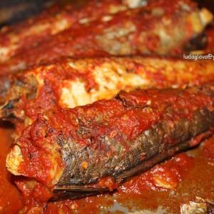 Ослич во сос од домати - ундиета, протеински ден (посно)