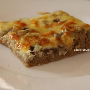 Пица со кромид и печурки - ундиета, ЈХ ден (посно)
