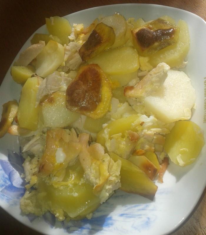 Мусака со пилешки стек