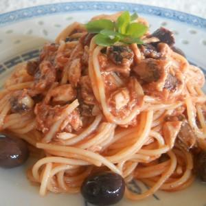 Шпагети со туна (посно)